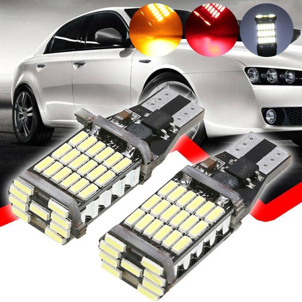 12V T15 W16W светодиодный 921 912 супер яркий 45 4014 светодиодный без ошибок автомобиля резервного копирования стоп резервный светильник фонарь стоп-...