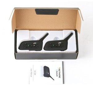 Image 5 - 2pcs V6 오토바이 인터폰 블루투스 헬멧 헤드셋 6 라이더 인터폰 1200M 무선 Intercomunicador 모토 지원 MP3