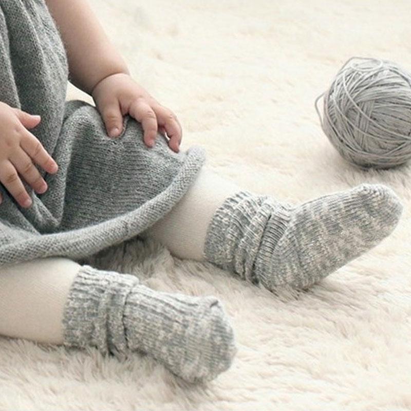 Thick baby alpaca socks soft wool and alpaca kids socks newborn socks cream toddler socks grey baby shower gift brown