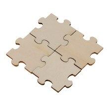 Puzzle en bois vierge embellissement tranches de bois, jouets artisanat d'art de mariage 40mm