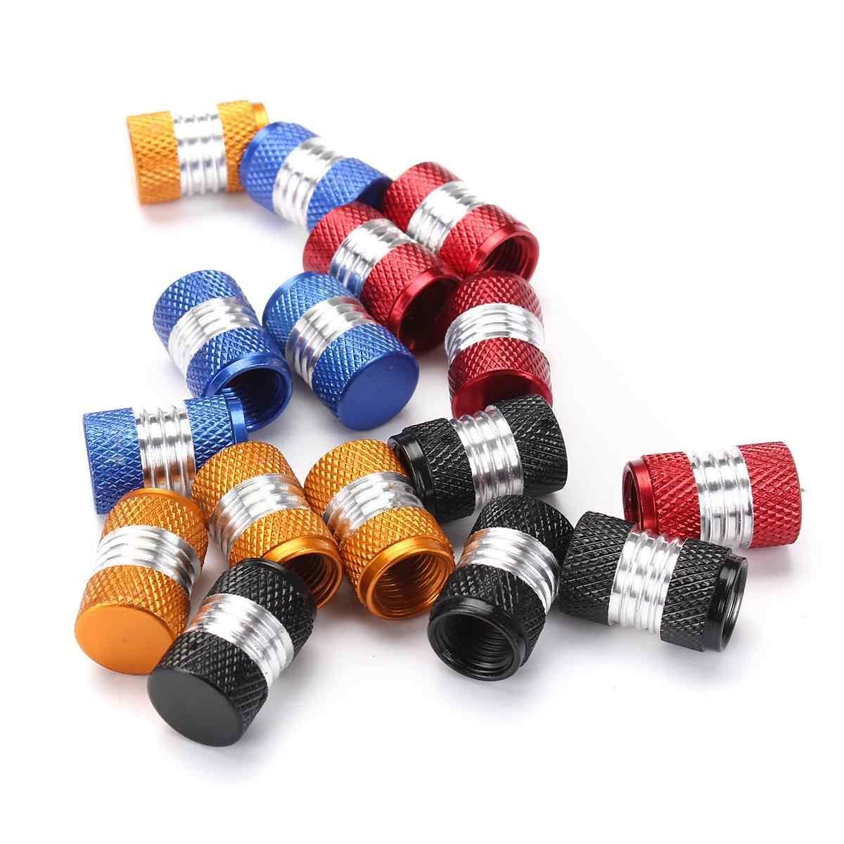 6 צבע 4Pcs אלומיניום סגסוגת רכב משאית עגול גלגל הצמיגים Valve גזע כובע אבק כיסוי שחור/אדום/ צהוב/ירוק/כחול/סגול