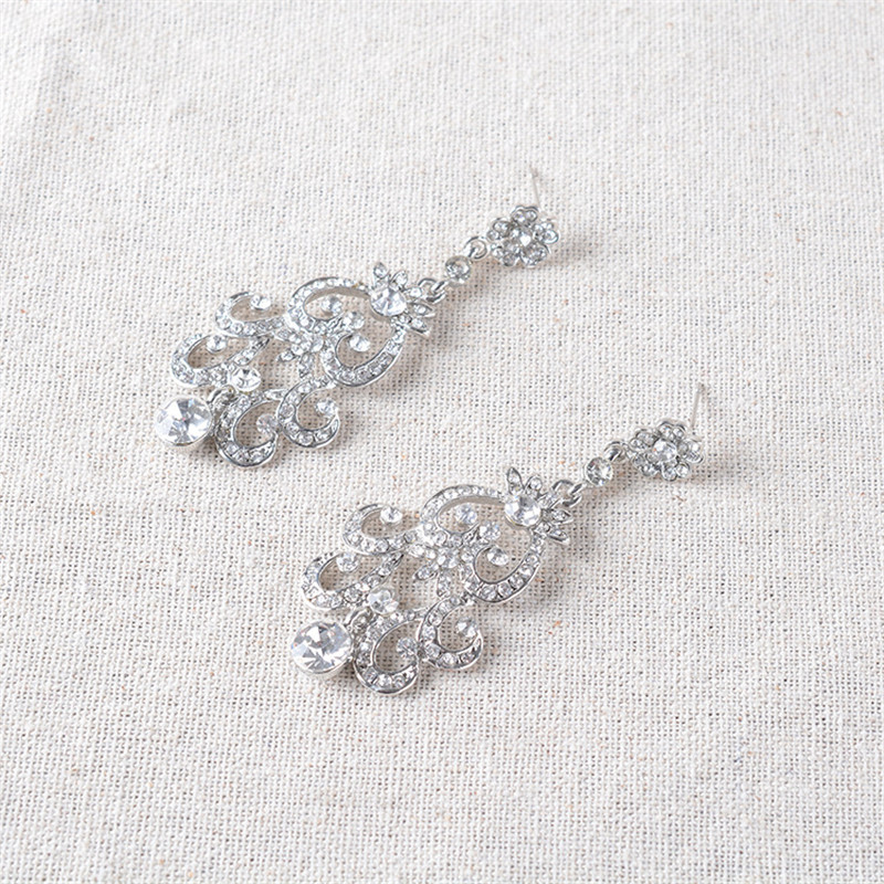CC Necklace Stud Earrings Jewlery Sets Long Necklaces Pendant Lxuxury Wedding Enagament Accessories For Bridal Crystal TL236