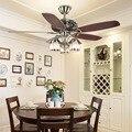 Потолочный вентилятор  классический потолочный вентилятор с декоративным листом  светильник в рыбацком стиле  Ностальгический потолочный ...