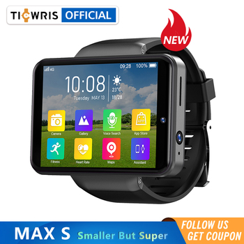 "NEW Ticwris Max S 4G Android Smart Watch 2.4"" Display Face ID 2000mAh 3GB 32GB 8MP Dual Camera GPS Bluetooth Men Smartwatch 2020"