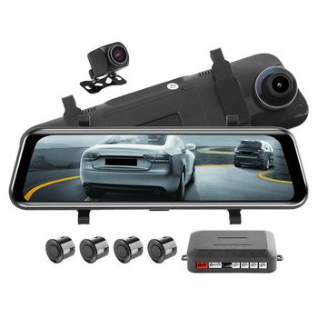 Hot Sale Car DVR Camera Delicate Design Phisung H50+ Dual Lens Car Rearview Mirror Dashboard Camera with Parking Radar image