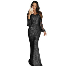 Sexy Club Wear Rose Gold Dress Womens Knot Deep V Neck Twist Front High Slit Long Sleeve Sequin Maxi Pink Party Dress geo print twist front dress