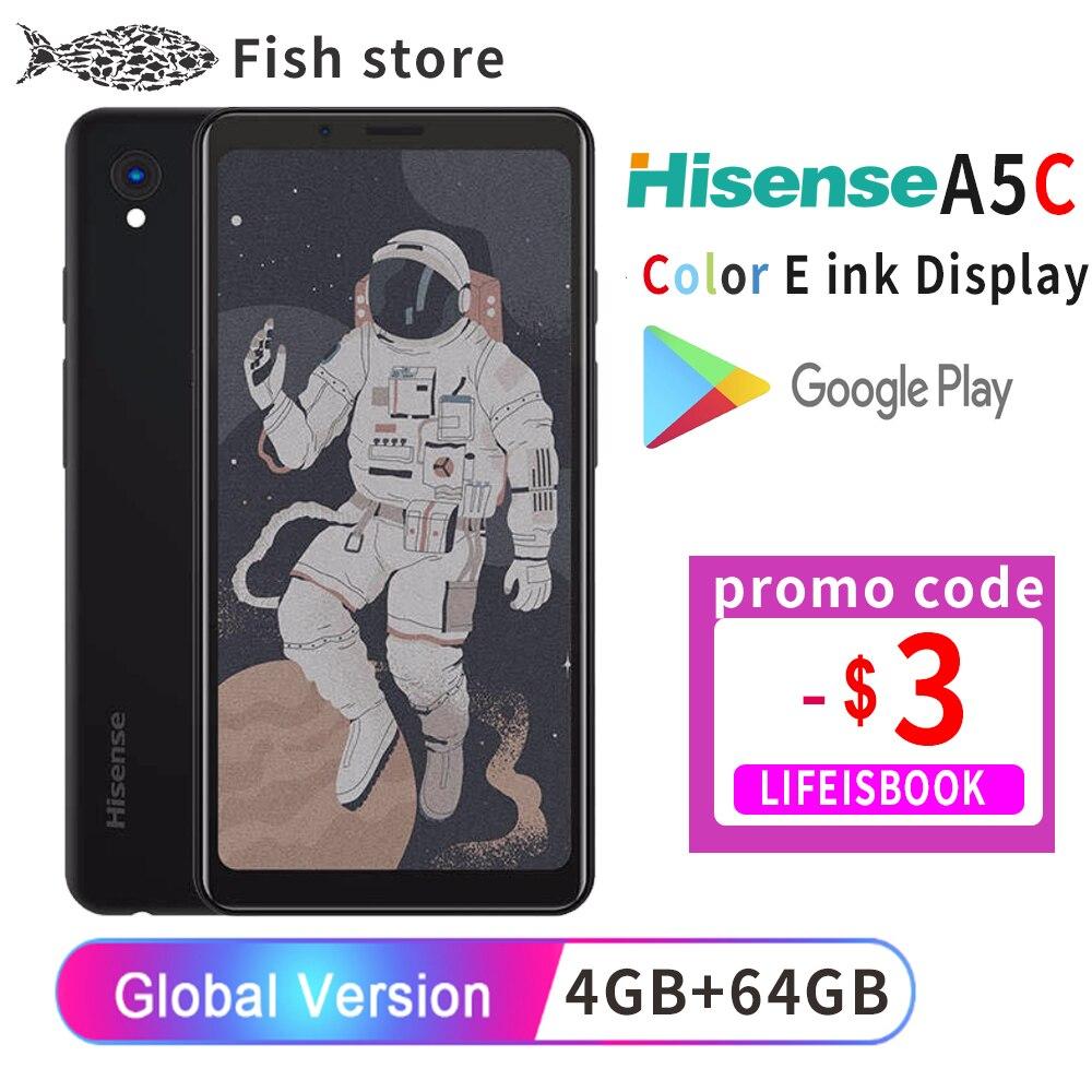 Google Play Hisense A5C Android 9,0 смартфон многоязычный цветной дисплей с защитой глаз электронная книга Kindle yota facenote