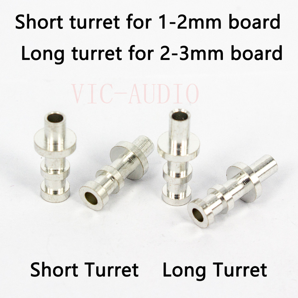 50 pc Silver Plated Copper Turrets Posts Lugs FOR 3mm Tube Guitar Amp Tag Board