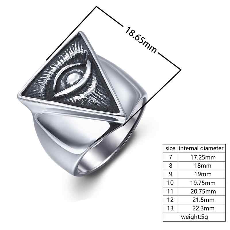 Jiayiqi готическое панк геометрическое кольцо для мужчин ретро дьявол кольцо от сглаза серебро Нержавеющая сталь Хэллоуин вечерние реквизит мужские ювелирные изделия подарки