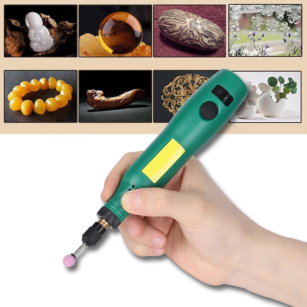 USB Aufladbare Speed Control Elektrische Grinder Maschine Set Kit Für Carving Polieren Und Trimmen Jade DIY Maniküre Polieren