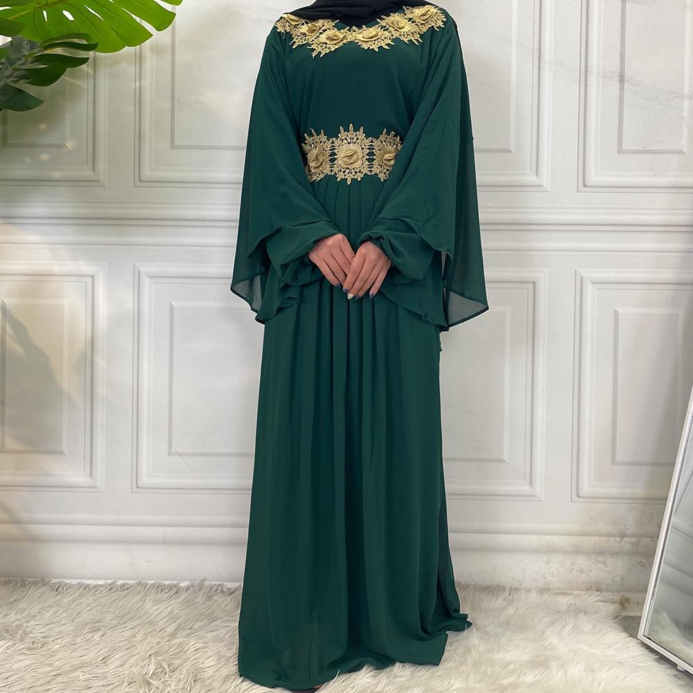 Middle East Fashion Dubai Abaya Muslim For Women Hijab Dress Caftan Turkey Kaftan Ramadan Arabic Islamic Clothing Modest Robe 2