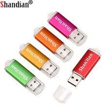 SHANDIAN Mini Pen drive USB Flash Drive GB 8 4GB GB GB 64 32 16GB cartão de 128GB de metal pendrive usb 2.0 flash drive memory stick Usb