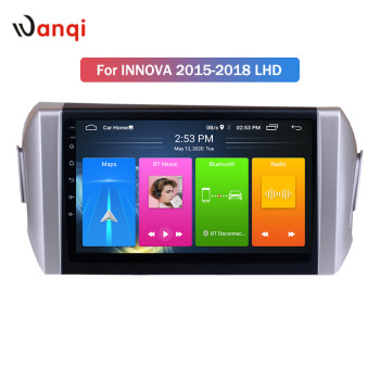 Wanqi 9 inch Android 10 Car Radio for Toyota Innova 2015-2018 Picture in Picture SWC Stereo Navigation GPS Audio NO DVD BT image