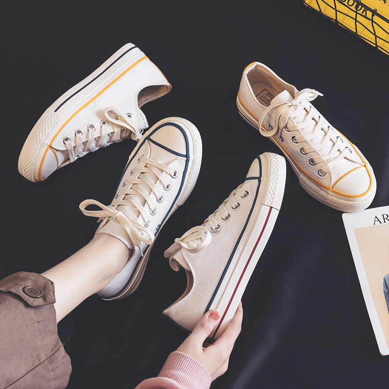 Women's Vulcanize Shoes 2020 New Sneakers Spring Breathable Women's Shoes Female Trendy Flats Casual Canvas Shoes Women