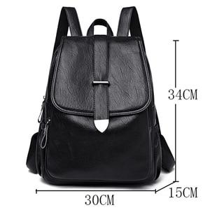 Image 4 - 2019 Women Leather Backpacks Female Travel Shoulder Bags Sac a Dos Femme Large Capacity Travel Backpack Fashion Ladies Back Pack