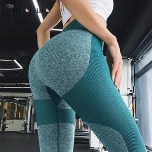 Image 5 - Fashion High Waist Women Fitness Legging Feminina Workout Leggings Jeggings Elastic Sportswear Seamless Leggins Women Clothing