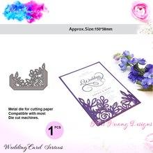 Meet Huang Flowers Lace Metal Cutting Dies Scrapbooking Pocket Craft Cut New 2018 paper card making wedding invitation