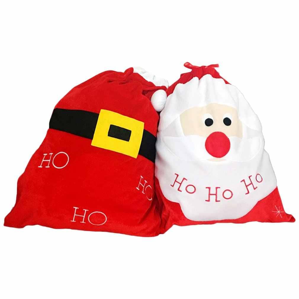 2018 nowa torba na prezenty świąteczne Santa duży worek Stocking wielki prezent torby świąteczny worek z mikołajem mikołaj prezenty bożonarodzeniowe święty mikołaj/pas