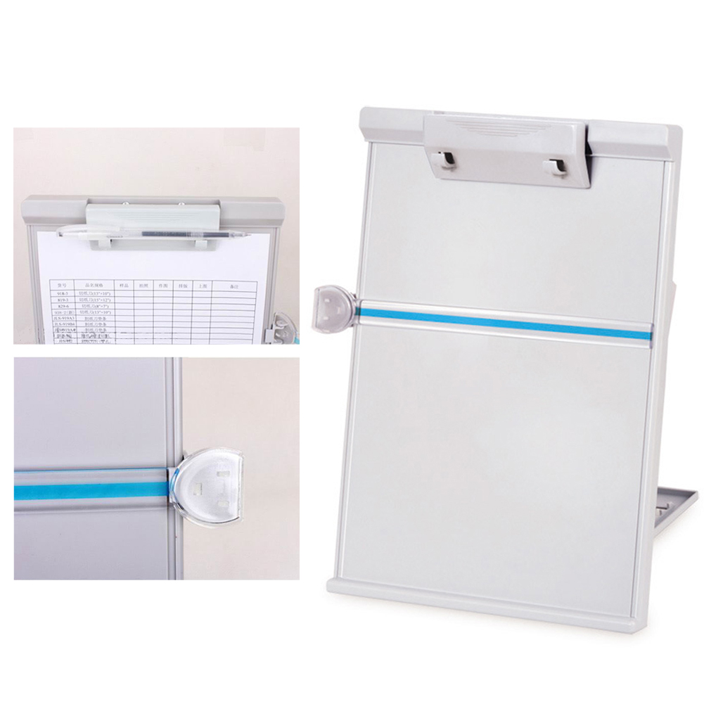 Adjustable Copy Paper Reading Stand  Clip Typing Paper Holder Document 35 X 23cm