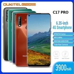 Перейти на Алиэкспресс и купить oukitel c17 pro 6.35 inch 4g smartphone 4gb + 64gb mt6763 13mp fingerprint octa core android 9.0 cellphone mobile phone 3900mah