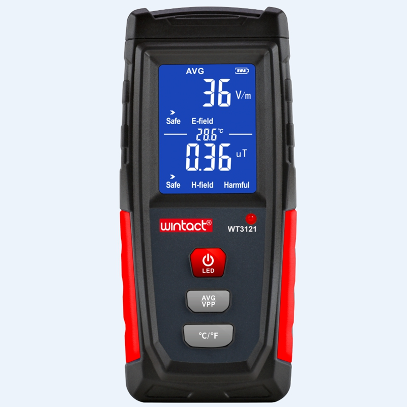 Tools : Electromagnetic Field Radiation Detector Tester Rechargeable Portable LCD Counter Emission Dosimeter Phone Computer EMF Meter