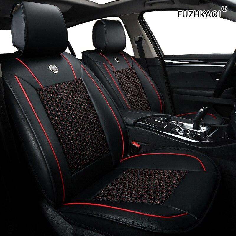 FUZHKAQI 1pcs car seat cover For mitsubishi pajero 4 2 sport outlander xl asx montero Eclipse Cross lancer 9 10 carisma seats