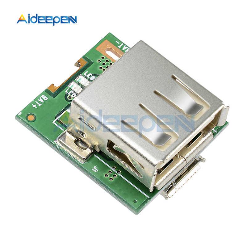5V 1A doładowania Converter 3.7V bateria litowa 18650 USB moduł ładowania akumulator li-po płyta ochronna wzmacniacz