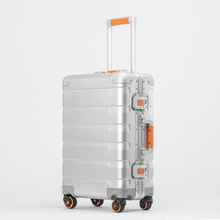 New 20/24 inch retro all aluminum magnesium alloy luggage spinner carry on boarding business trolley suitcase fashion valise