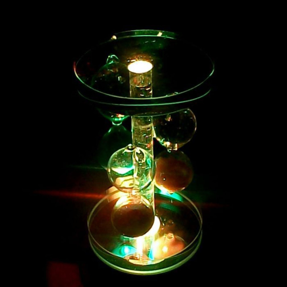 Gray Round Crystal 4 LED Light Music Box Base Crystal Box Base Gift Box Decor Automatically rotating music box base with LED