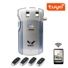 Lock Electric-Lock No-Drill-Hole Entry-Door Remote-Control Wifi Invisible Keyless Tuya