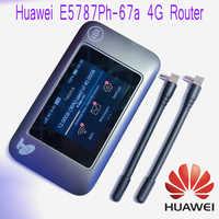 Huawei E5787Ph-67a LTE Cat6 300Mbps Mobile WiFi Hotspot 3000mAh Battery LTE 4G Portable Router Unlocked Plus antenna