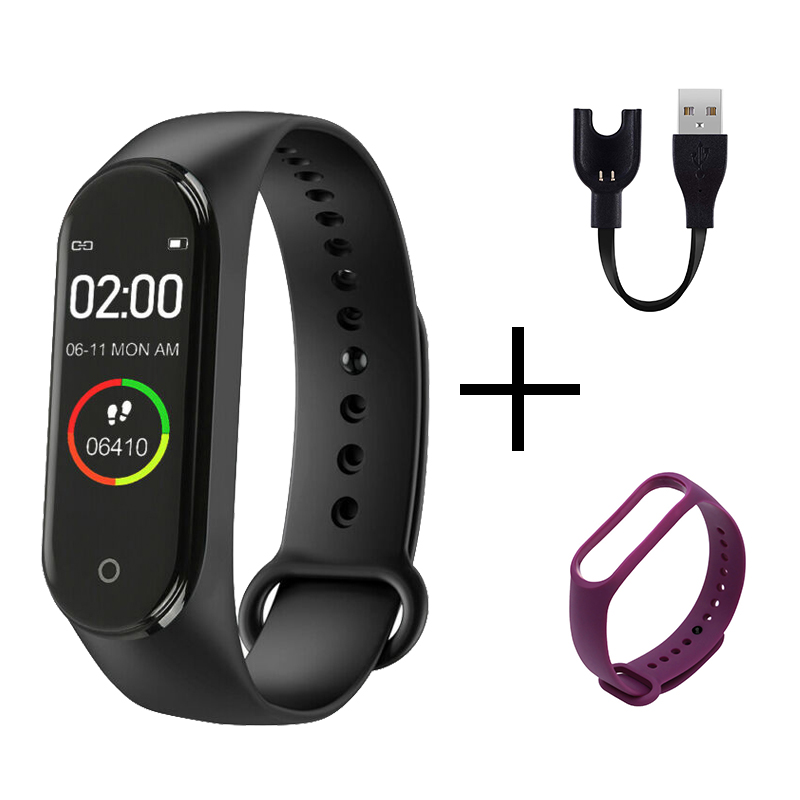Fashion M4 Sports Watch Heart Rate Blood Pressure Monitoring Male And Female Pedometer Bluetooth Anti-lost Cable Mobile Phone