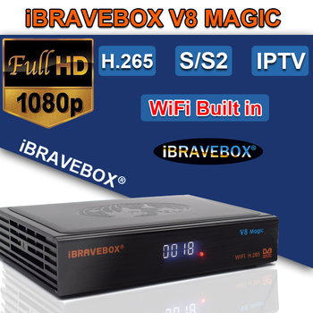цена на satellite receiver hd V8 Magic 1Year 7 Cccam Cline DVB-S2 H.265 built-in WIFI Receptor 1 Year Europe cline V9 Super Support IPTV