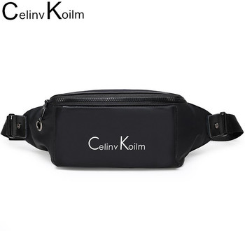 Celinv Koilm Brand Men Fanny Pack Soft High Quality Water Resistant Waist Bag Pack for Man Unisex Crossbody Chest bag Motorcycle