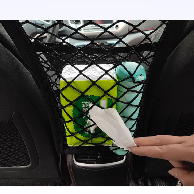 Universal Automobiles Mesh Organizer Pocket Car Nets Auto Seat Back Storage Network for Stowing Tidying Vehicle Accessories Net