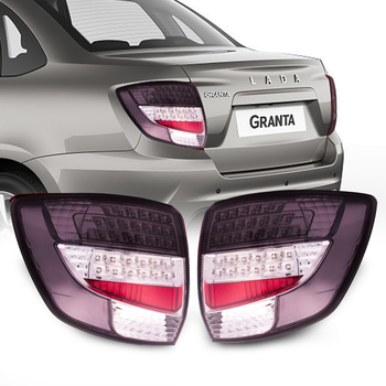 for Lada granta 2190 LED rear light with turn light 2 Pcs Car Styling Accessories LED Rear Running Lights
