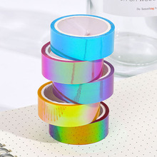 1 Pcs Cool Color Handbook Decorative Waterproof Tape Creative Gradient Tape Student Handbook Material Sticker School Supplies