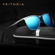 Veithdiaレトロアルミマグネシウムブランドメンズサングラス偏光レンズヴィンテージ眼鏡アクセサリー男性 6623