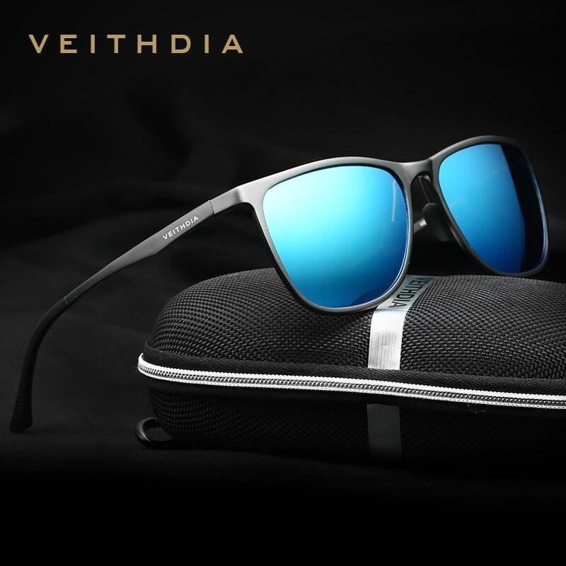 Óculos de Sol Retrô de Alumínio e Magnésio Veithdia Masculino Polarizado Lentes Polarizadas Vintage 6623