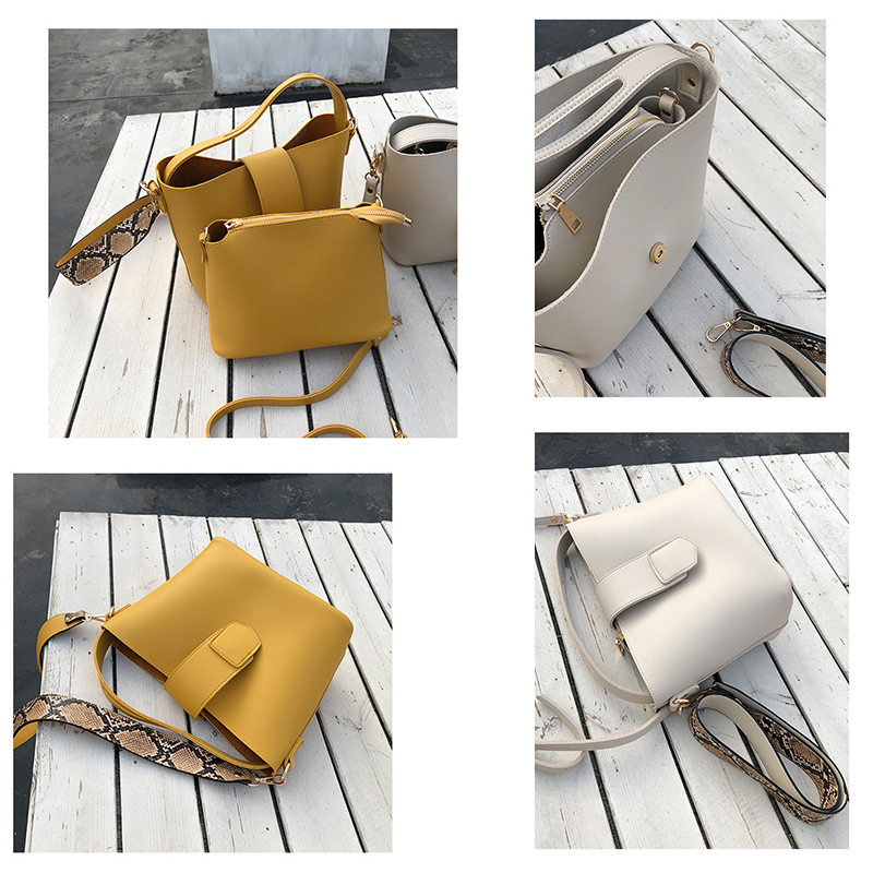 EXCELSIOR PU Leather Women's Bag Serpentine Strap Shoulder Bags for Female bolsos mujer de marca famosa 2019 sac a main femme