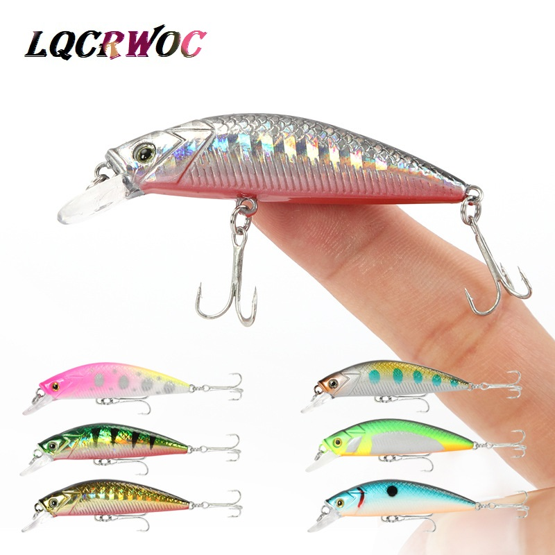 Hot New 50mm 6.5g Mini Minnow Fishing Lure 5cm Small Ice Fish Trout Bass Pike Hard Bait Pesca Crankbait Whopper Plopper Swimbait