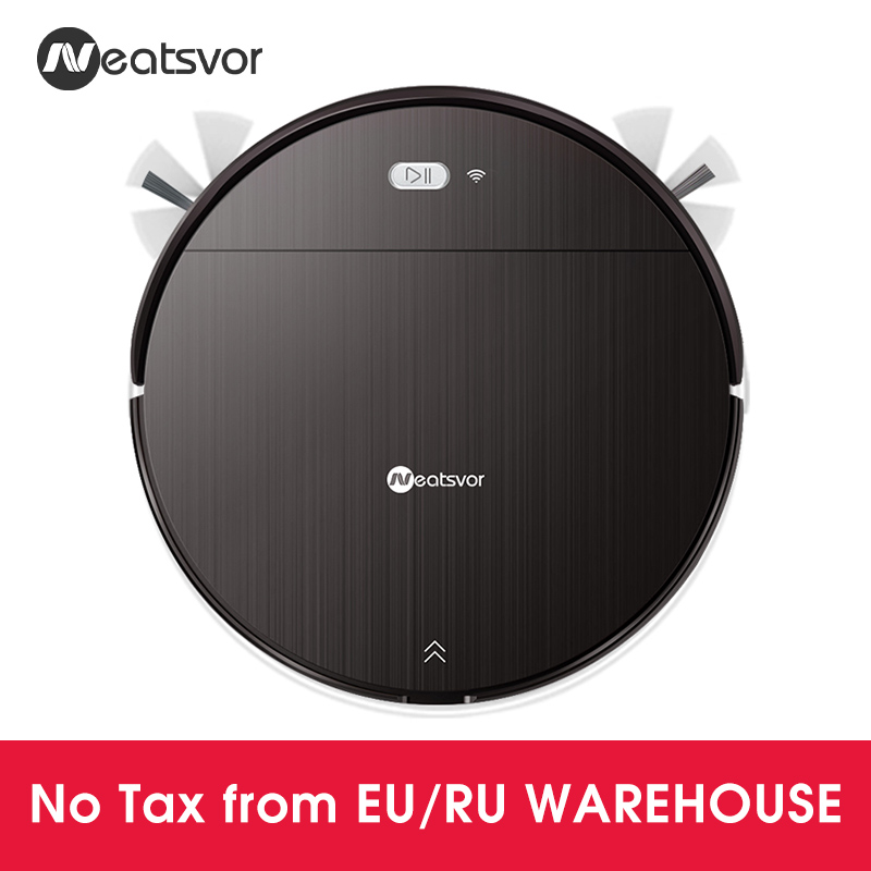 NEATSVOR V392 Robot Vacuum Cleaner,Map navigation,1800Pa Suction,Auto Charge, Map Display, Wifi APP Connect, Electric Water tankVacuum Cleaners   -