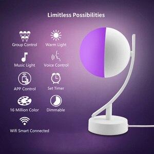Image 4 - Tuya Smart APP WiFi Schreibtisch Lampe 16 Millionen Farbe Drahtlose Steuerung Timer Alexa Kompatibel Nacht Licht RGB Dimmbare für Smart hause