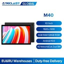 Teclast – tablette PC Android 10 de 10.1 pouces M40, avec écran 1920x1200, 6 go de RAM, 128 go de ROM, réseau 4G et appels, double SIM, Octa Core, caméra 8MP