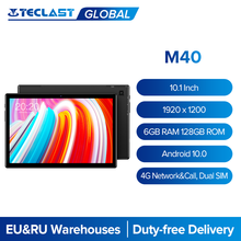 Teclast M40 10.1 Cal Tablet 1920x1200 6GB RAM 128GB ROM 4G sieć i połączenie Dual SIM Octa Core Android 10 tablety PC 8MP kamera