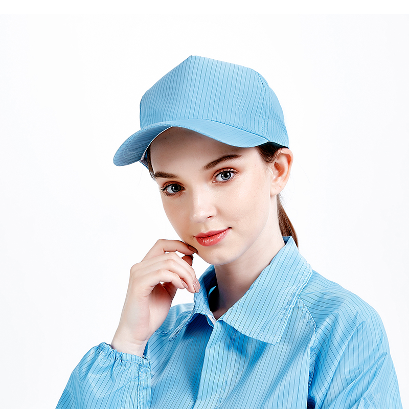 1 PCS Blue Anti Static Visor Cap Hat PC ESD Factory Lab Dust-free Work Hat for Men and Women
