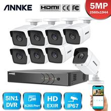 ANNKE 8CH 5MP Lite 5IN1 Ultra HD kamera bezpieczeństwa do monitoringu System H.265 + z 8 sztuk 5MP Bullet odporne na warunki atmosferyczne nadzór zewnętrzny zestaw