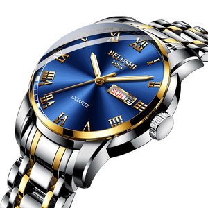 Image 2 - Belushi Gold watches Classics 2020 New Luxury Brand Watch Men Waterproof  Stainless Steel Man Watches Date Clock Erkek kol Saati