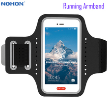 Armband iPhone 11 Holder Key-Pouch Sports-Bags Gym Running Nohon for Pro Fingerprint