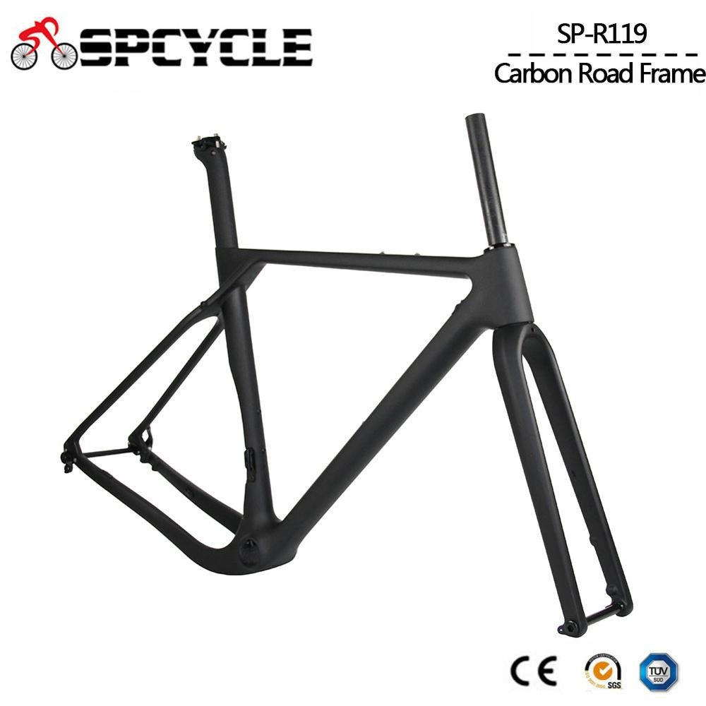 Spcycle Aero Full Carbon Gravel Bicycle Frame Disc Brake Cyclocross Bike Carbon Frameset Front 100*12mm Rear 142*12mm Thru Axle